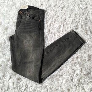 RACHEL Rachel Roy High Waisted Grey Skinny Jeans